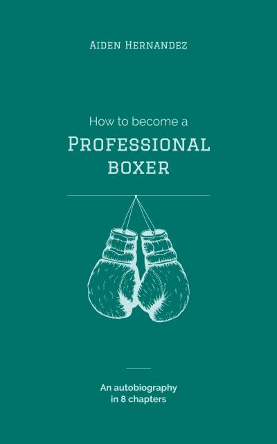 Boxing Gloves Hanging in Blue Book Cover – шаблон для дизайну