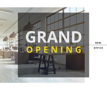 grand opening of new office poster