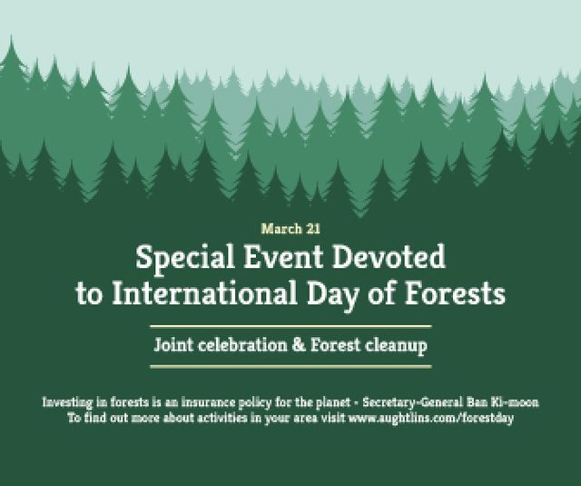 Plantilla de diseño de Special Event devoted to International Day of Forests Large Rectangle