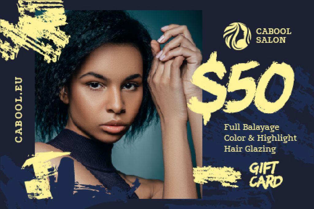 Beauty Salon Ad Woman with Glowing Skin Gift Certificate – шаблон для дизайна