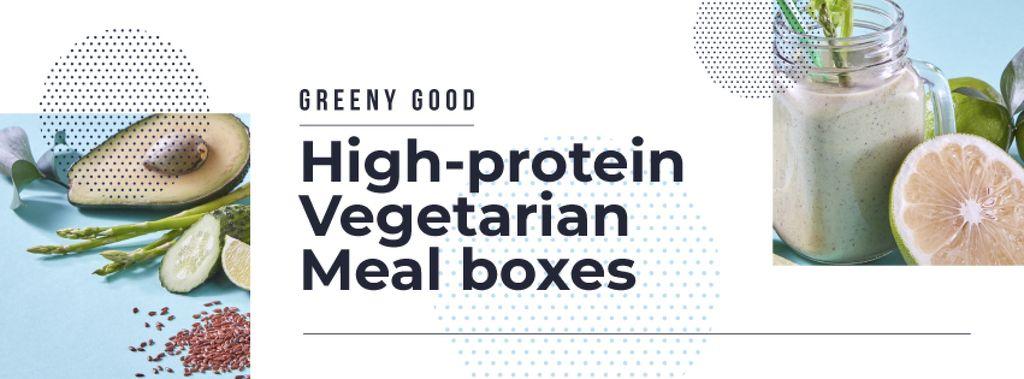 Healthy Lifestyle Concept Green Smoothie — Modelo de projeto