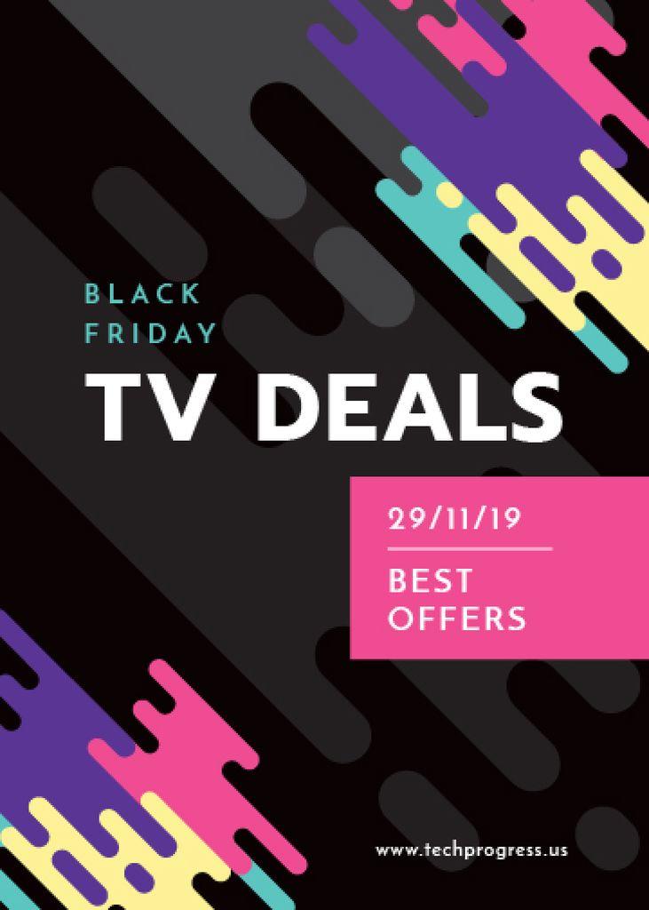 Black Friday TV deals on Colorful paint blots — Create a Design