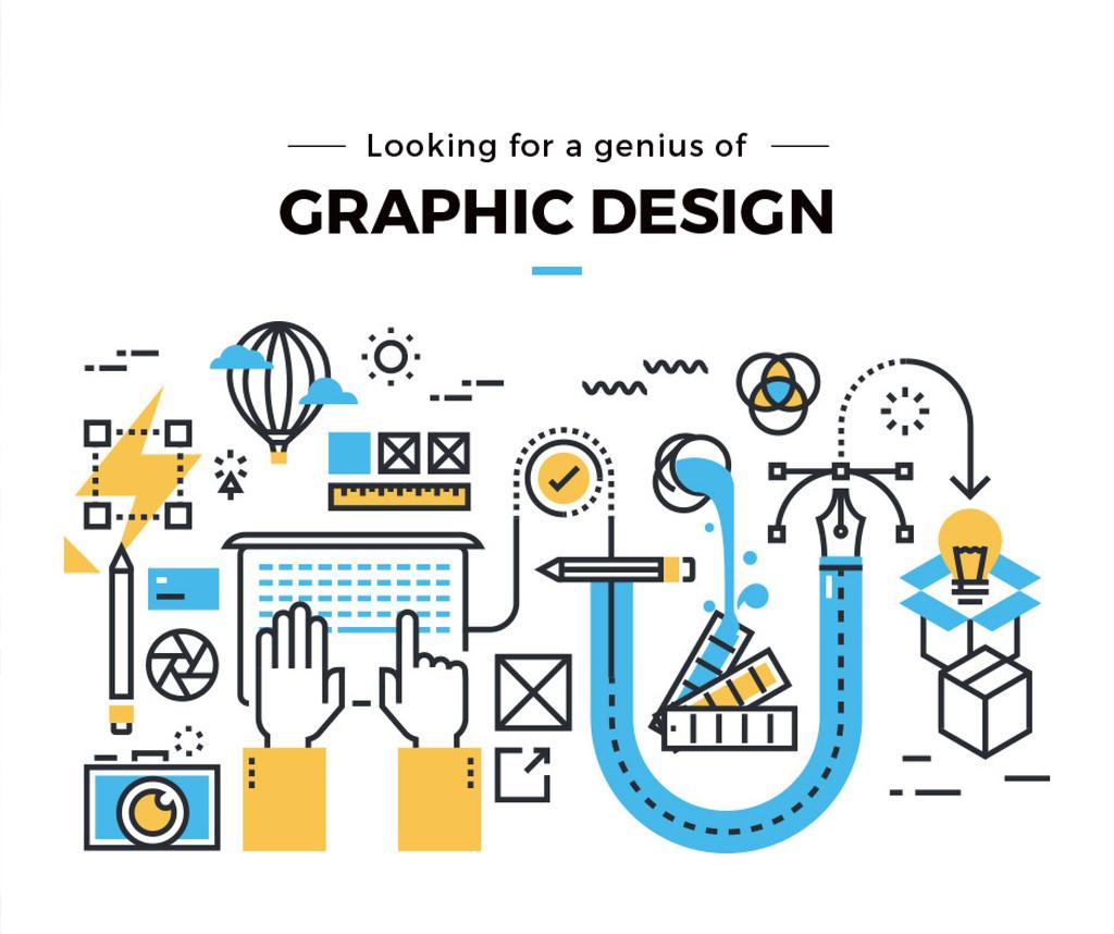 Graphic design job vacancy — ein Design erstellen