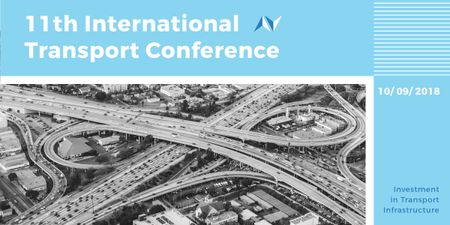 Plantilla de diseño de International transport conference announcement Image