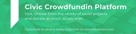 Modèle de visuel Civic Crowdfunding Platform - Twitter