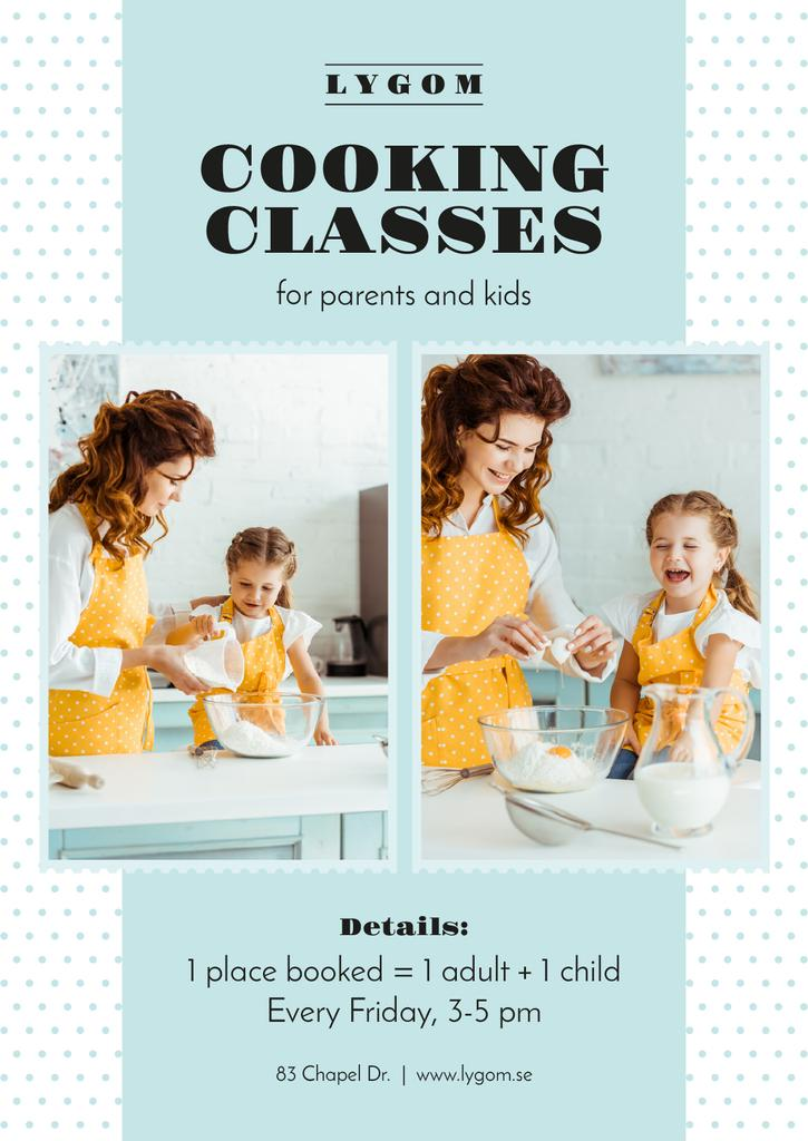 Cooking Classes Mother with Daughter in Kitchen - Bir Tasarım Oluşturun