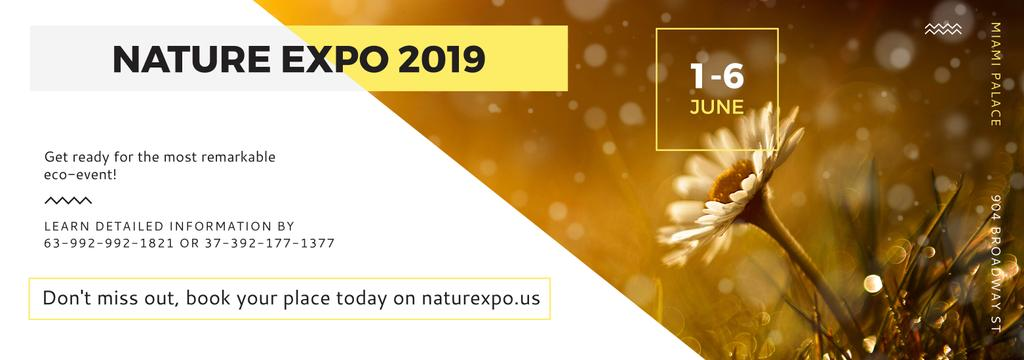 Nature Expo Announcement Blooming Daisy Flower | Tumblr Banner Template — Створити дизайн