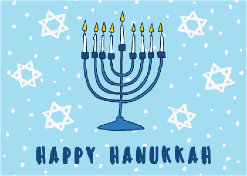 Happy Hanukkah greeting card  — ein Design erstellen