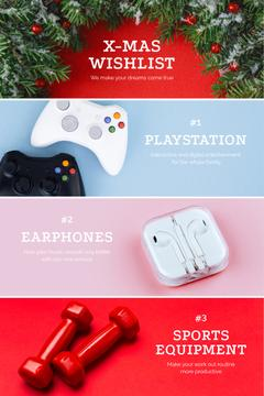 Gadgets and equipment for Christmas gifts