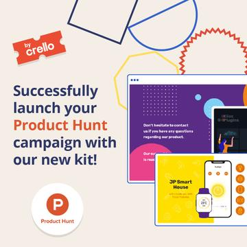 Product Hunt Launch Kit Offer Digital Devices Screen | Instagram Post Template