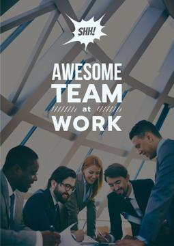 Successful Business Team at the Meeting | Poster Template