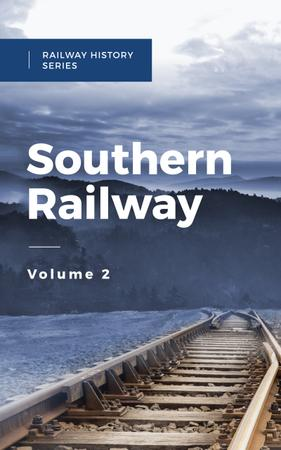 Railways in Nature Landscape Book Cover – шаблон для дизайна
