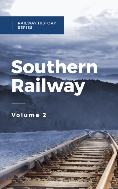 Ontwerpsjabloon van Book Cover van Railways in Nature Landscape
