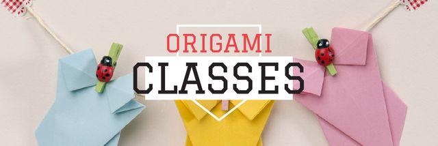 Origami classes Invitation Email header Modelo de Design