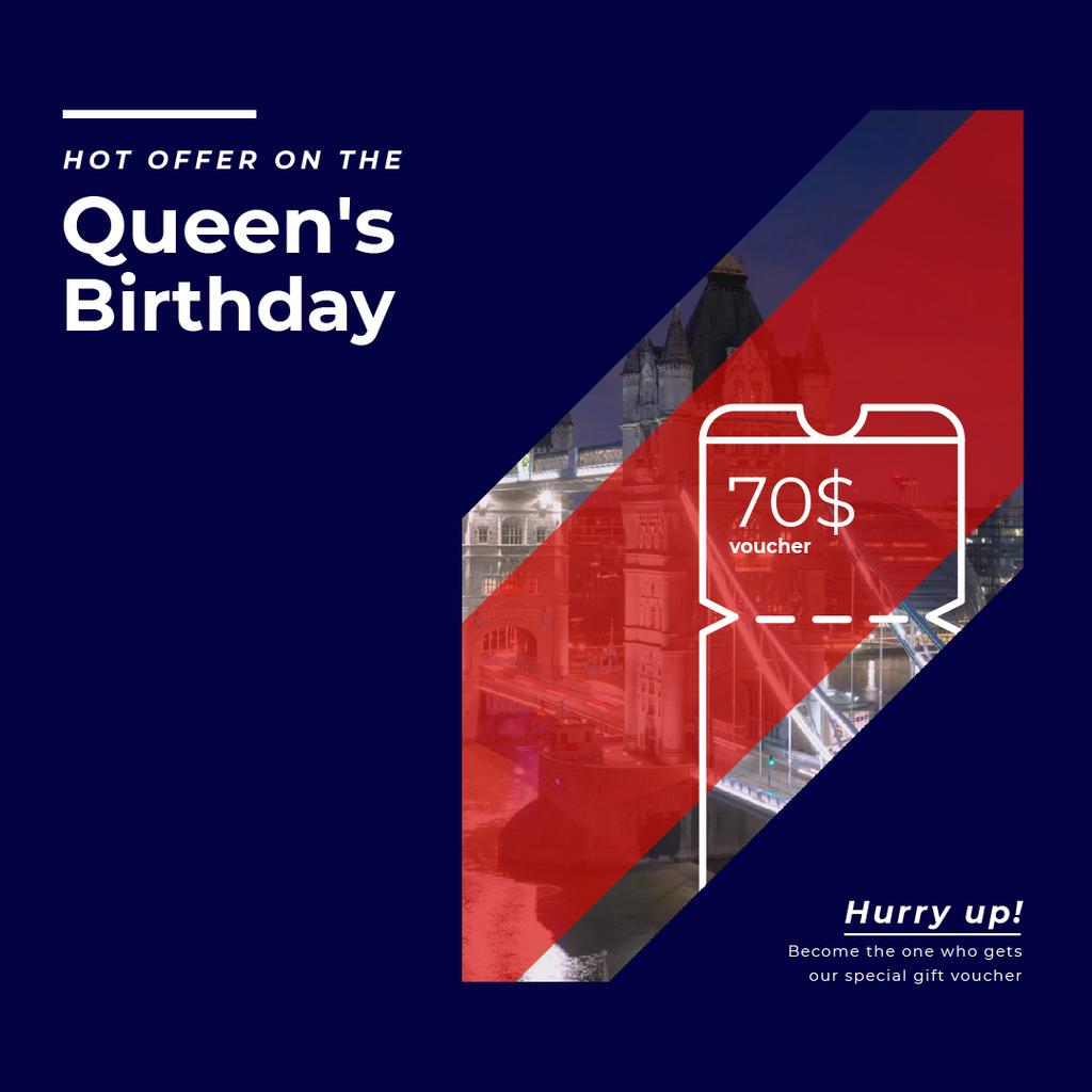 Queen's Birthday London Tour Offer — Crear un diseño