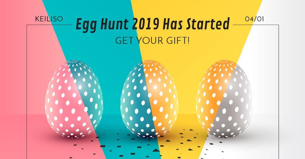 Egg hunt in Happy Easter Day — Создать дизайн