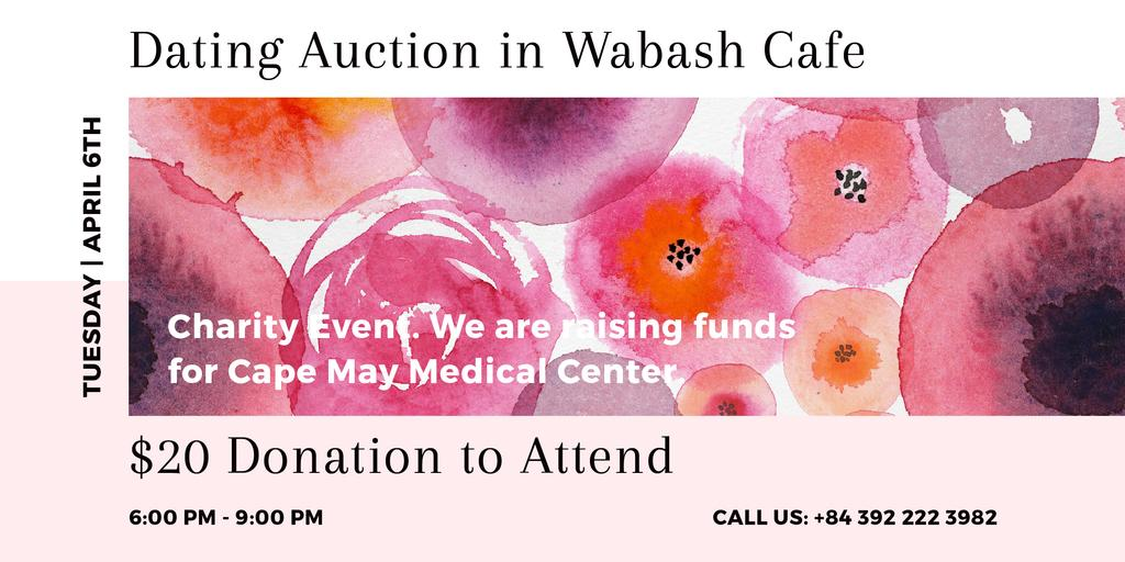 Dating Auction in Wabash Cafe — Modelo de projeto