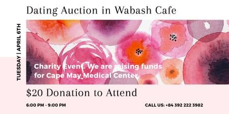 Dating Auction in Wabash Cafe Image Design Template