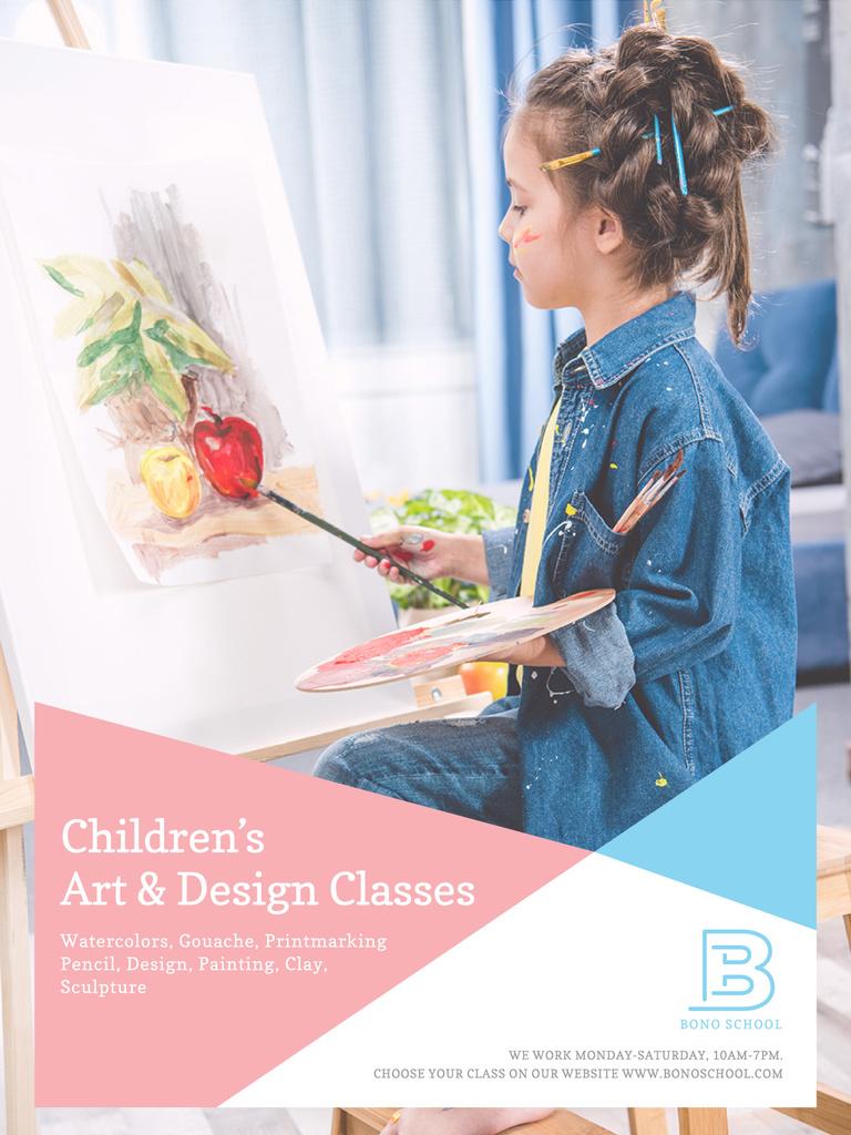 Children's art classes advertisement — Создать дизайн