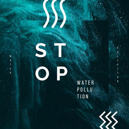 Plantilla de diseño de Water Pollution Concept Dark Paint Blots Instagram AD