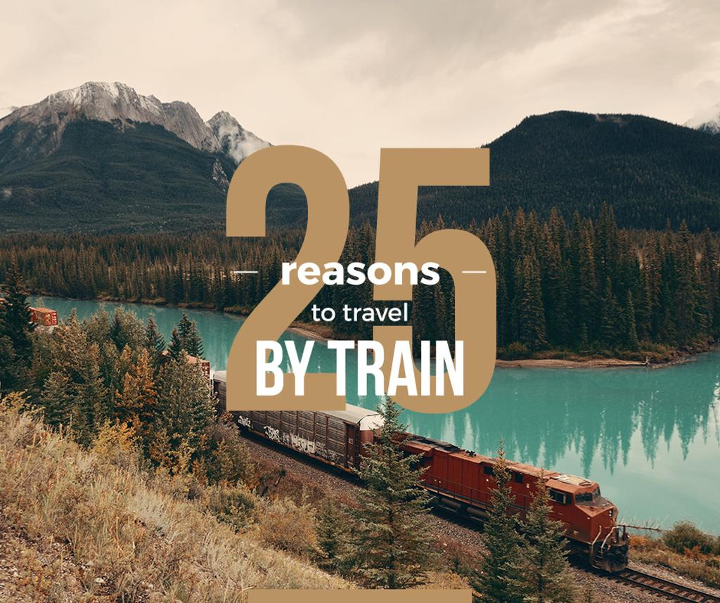 Travelling by Train Railways in Nature Landscape — Створити дизайн
