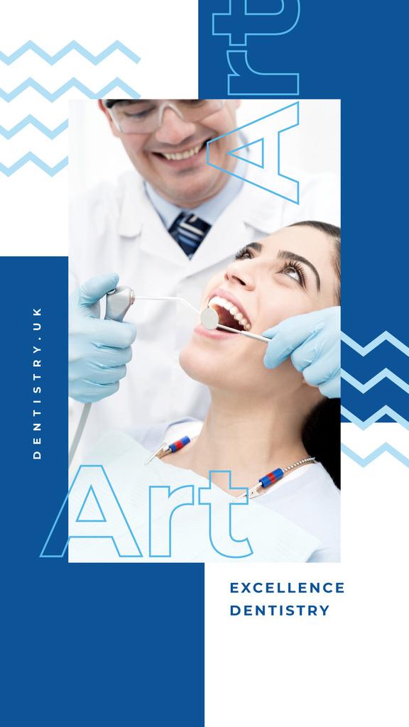 Plantilla de diseño de Patient at dentist's check-up Instagram Story