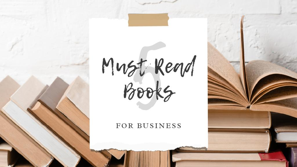 Plantilla de diseño de Books for Business Ad Youtube Thumbnail