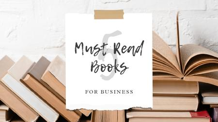 Plantilla de diseño de Books for Business Ad Youtube Thumbnail