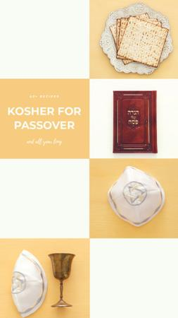 Happy Passover Celebration Attributes Instagram Video Story Modelo de Design