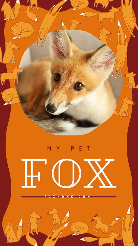 Cute red fox — Створити дизайн