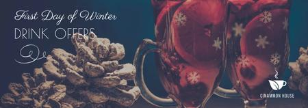 First day of winter Drinks offer Tumblr Design Template