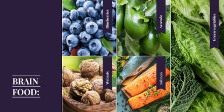 Food rick in nutrients Image Design Template