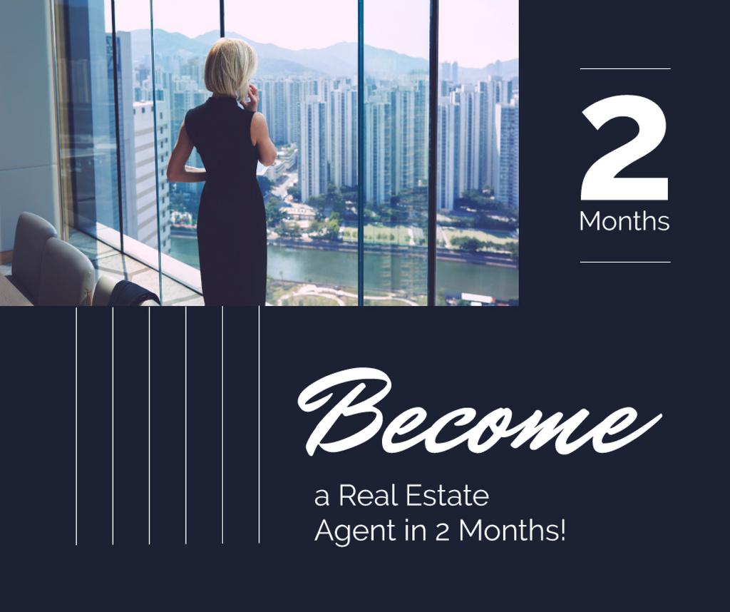 Modèle de visuel Real Estate Agent Talking on Phone - Facebook