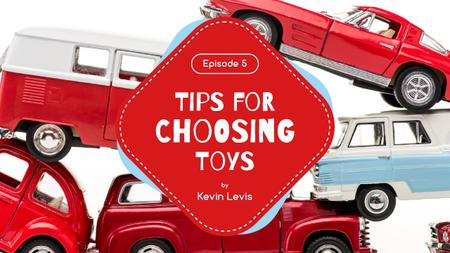 Ontwerpsjabloon van Youtube Thumbnail van Kids Toys Guide Red Car Models