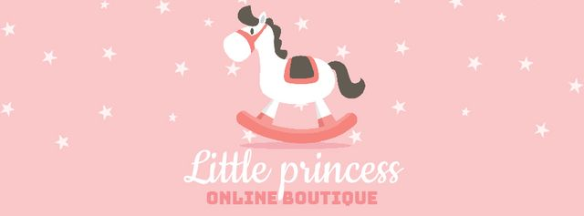 Kids' Store ad with Rocking Horse toy Facebook Video cover Modelo de Design