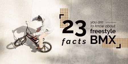 Plantilla de diseño de Facts about freestyle bmx Twitter
