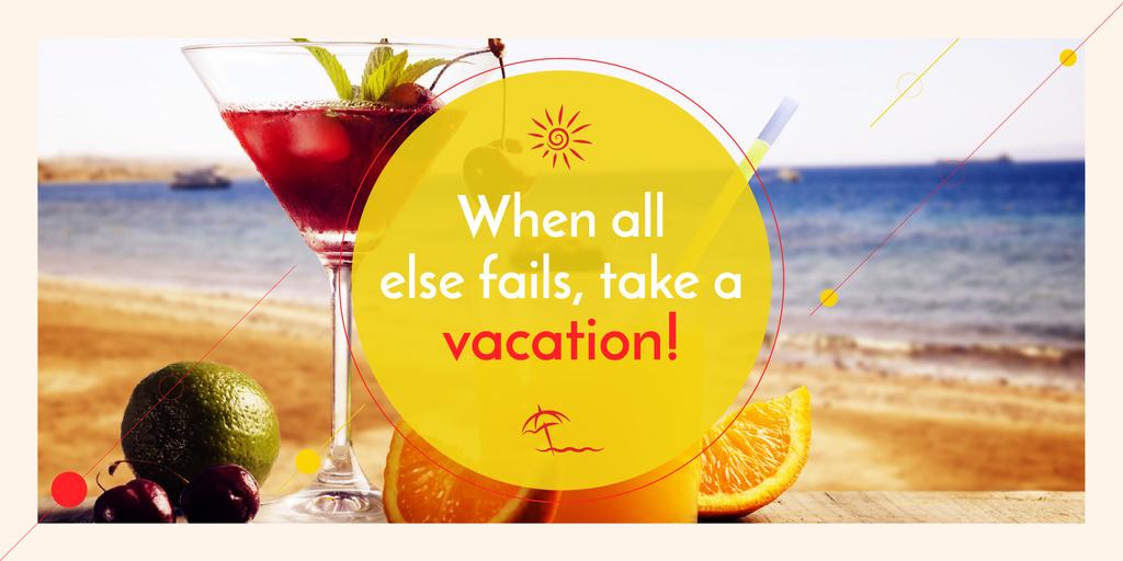Summer cocktail on tropical vacation — Créer un visuel