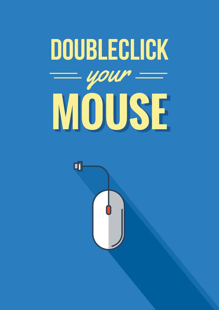 Doubleclick your mouse Quote in Blue — Maak een ontwerp