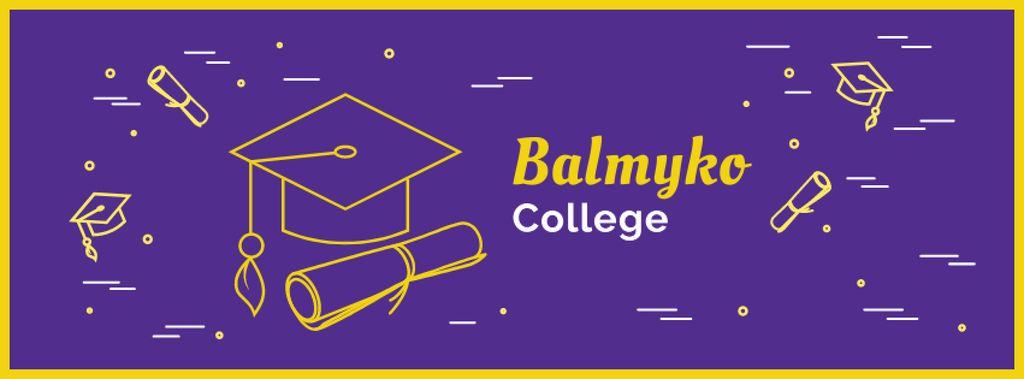 Szablon projektu Choosing college tips with Graduation Cap Facebook cover