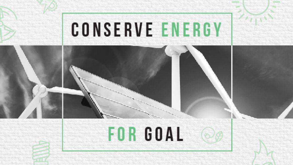 Wind Turbines and Solar Panels Title Modelo de Design