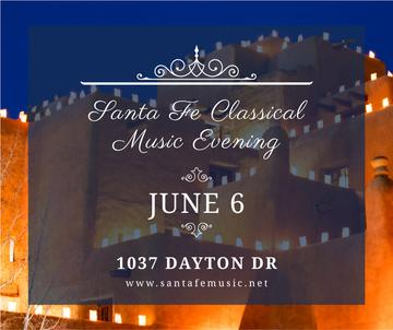 Classical music evening announcement