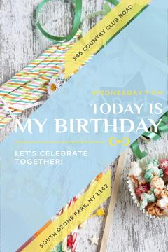 Birthday Party Invitation Bows and Ribbons | Pinterest Template