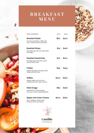 Plantilla de diseño de Cafe Breakfast offer Menu