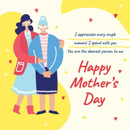Template di design Daughter hugging senior mother on Mother's Day Instagram