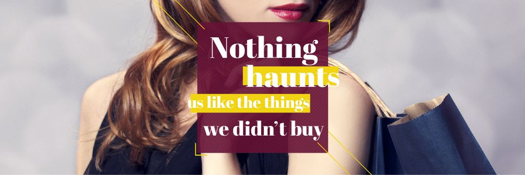 Quotation about shopping haunts — Crear un diseño