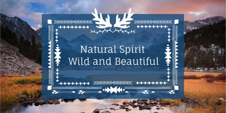 Natural spirit banner Image Design Template