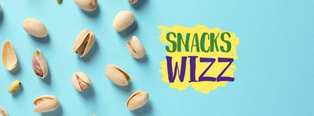 Template di design Pistachio nuts snack Facebook cover