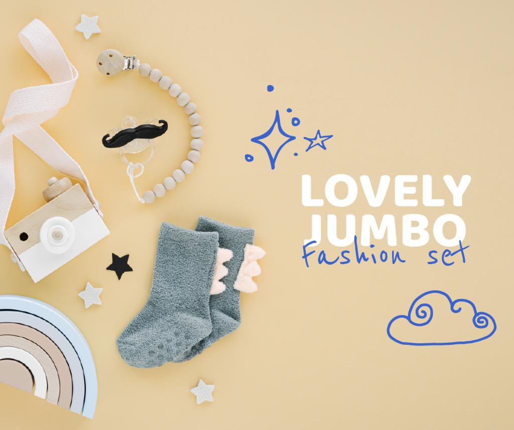Baby Fashion and Toys store ad — Створити дизайн