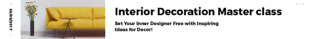 Modèle de visuel Interior decoration masterclass - Leaderboard