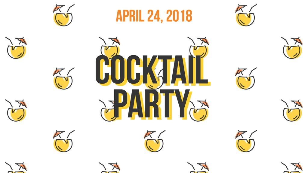 Summer Cocktails Party Icons in Yellow — Создать дизайн
